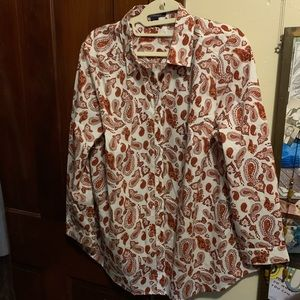 ROAMAN'S =NEW= Paisley 20W Poly/Cotton Blouse